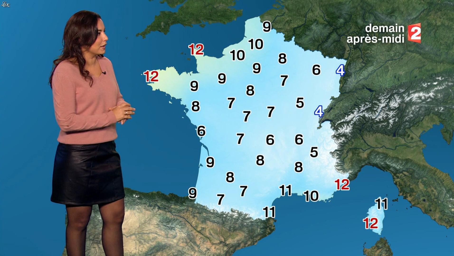 Anaïs Baydemir à la Météo de Midi. Diffusé à la télévision le 19/12/17.