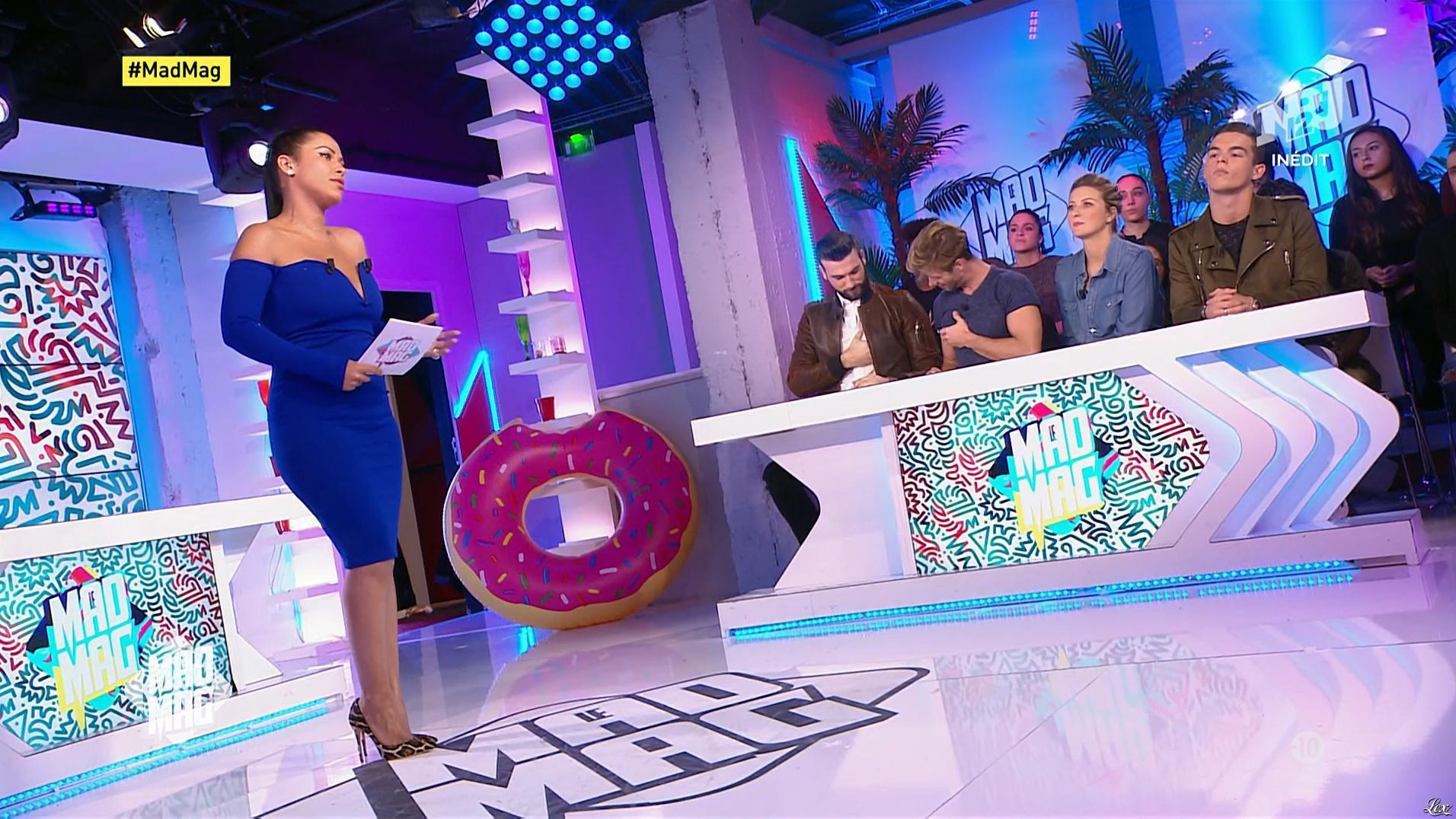 Ayem Nour dans le Mad Mag. Diffusé à la télévision le 15/11/17.
