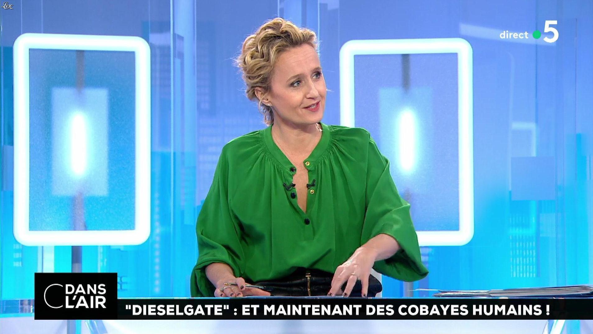 Caroline Roux dans C dans l'Air. Diffusé à la télévision le 01/02/18.