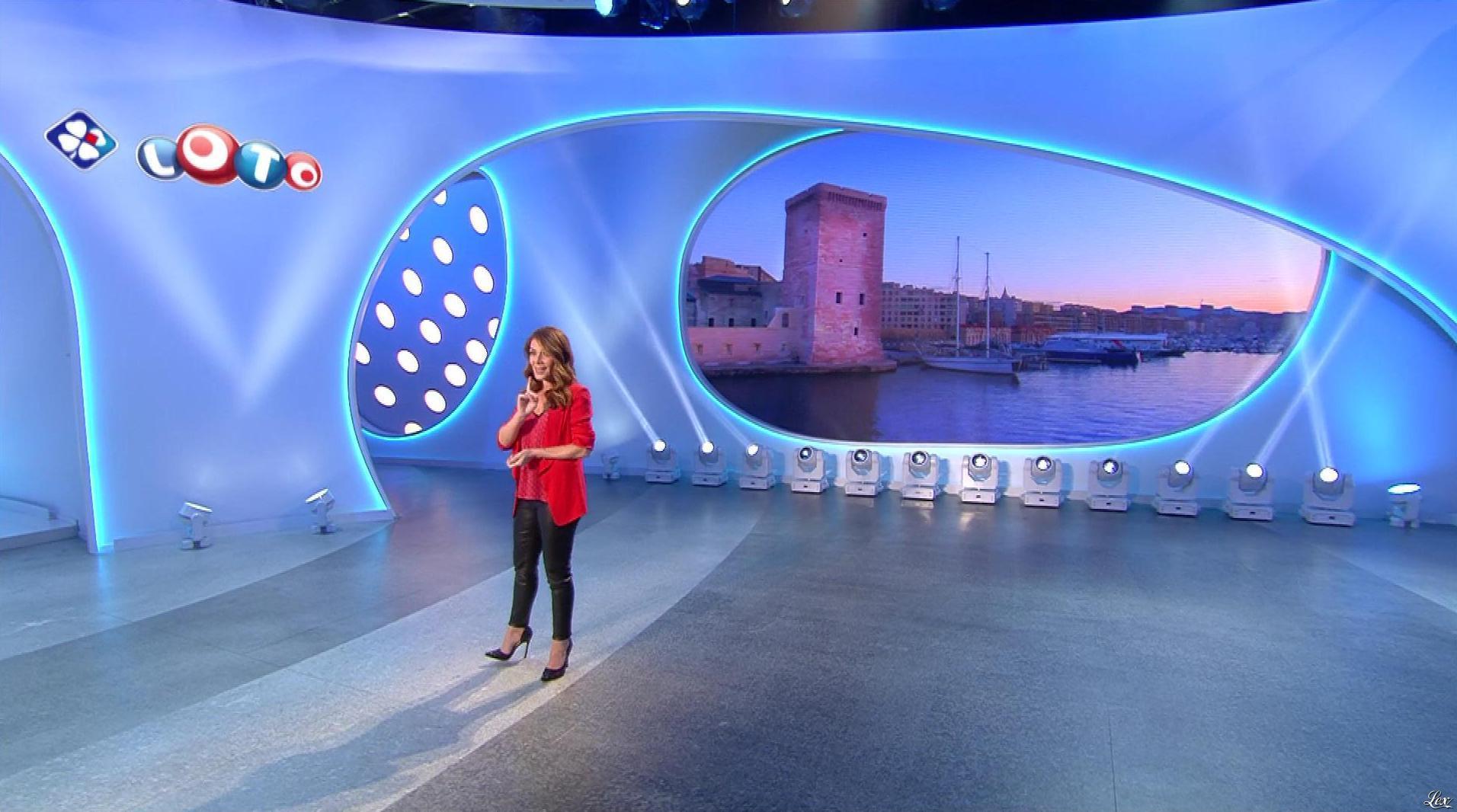 Elsa Fayer lors du Tirage du Loto. Diffusé à la télévision le 07/02/18.