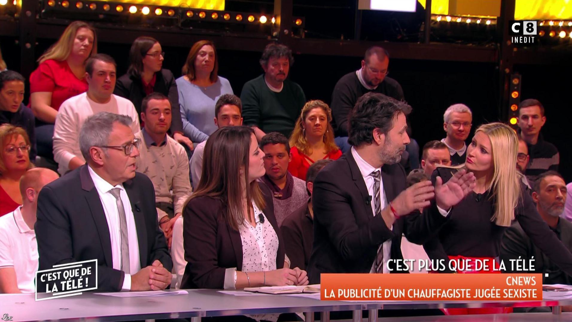 Tatiana Laurens Delarue dans c'est Que de la Télé. Diffusé à la télévision le 09/02/18.