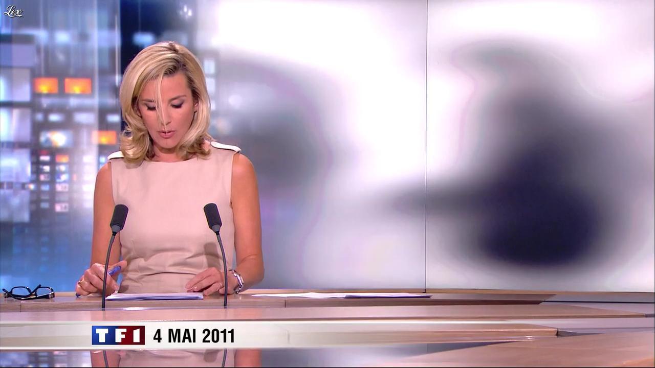 Laurence Ferrari au JT de 20h. Diffusé à la télévision le 04/05/11.