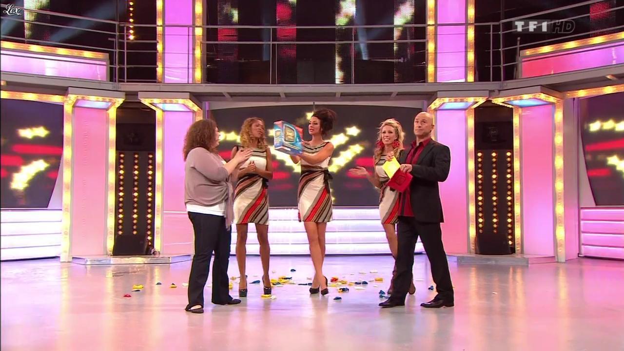 Les Gafettes, Nadia Aydanne, Doris Rouesne et Fanny Veyrac dans le Juste Prix. Diffusé à la télévision le 18/11/11.
