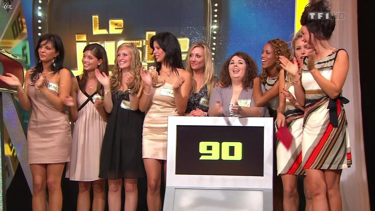 Les Gafettes, Nadia Aydanne et Fanny Veyrac dans le Juste Prix. Diffusé à la télévision le 18/11/11.