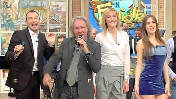 Arianna Rendina dans Mezzogiorno in Famiglia. Diffusé à la télévision le 01/04/12.