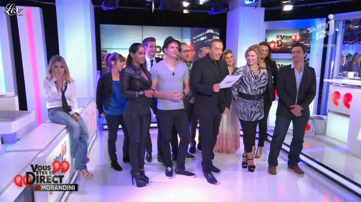 Ayem et Cindy Lopes dans Vous êtes En Direct. Diffusé à la télévision le 06/09/12.