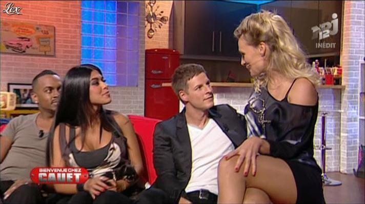 Ayem et Lucie Peltier dans Bienvenue Chez Cauet. Diffusé à la télévision le 03/10/12.