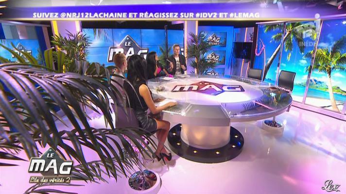 Ayem et Nabilla Benattia dans le Mag. Diffusé à la télévision le 23/11/12.