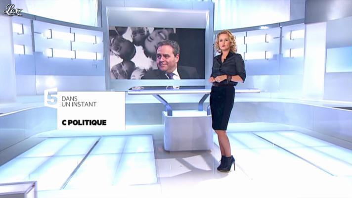 Caroline Roux dans C Politique. Diffusé à la télévision le 14/10/12.