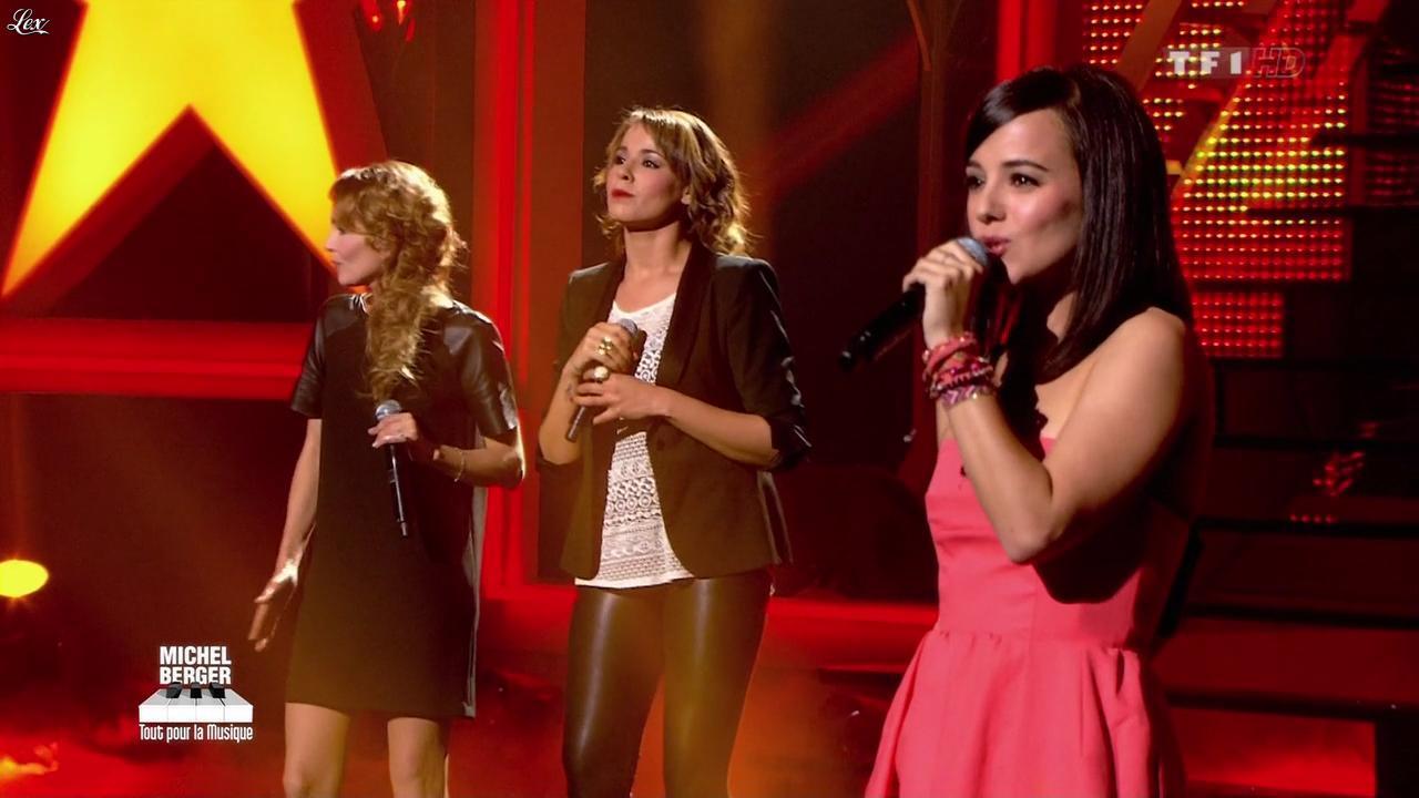 Chimène Badi, Claire Keim et Alizée dans Michel Berger Tout Pour la Musique. Diffusé à la télévision le 08/06/12.