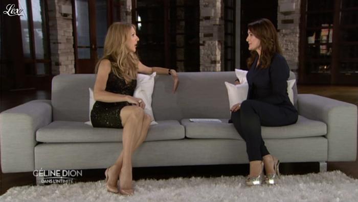 Daniela Lumbroso et Céline Dion dans Céline Dion dans l'Intimite. Diffusé à la télévision le 17/12/12.