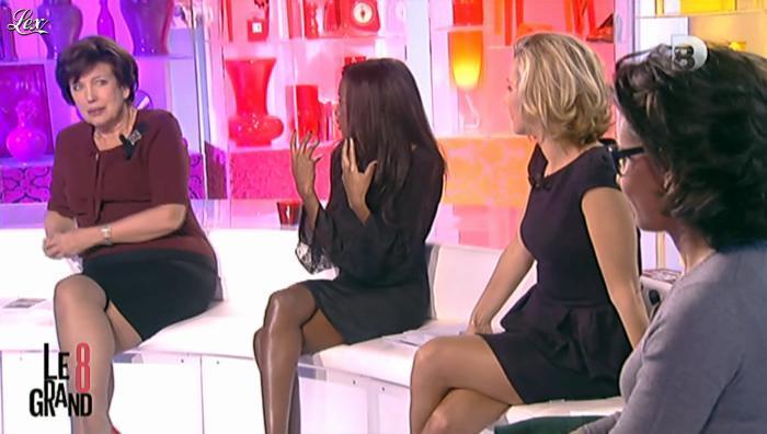 Hapsatou Sy, Laurence Ferrari et Audrey Pulvar dans le Grand 8. Diffusé à la télévision le 08/11/12.