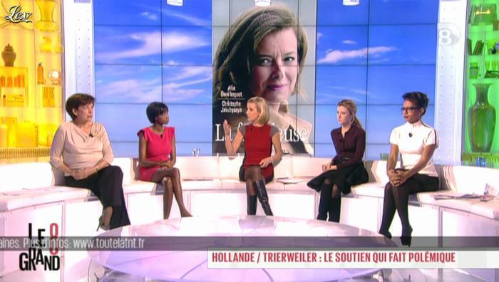 Hapsatou Sy, Laurence Ferrari et Audrey Pulvar dans le Grand 8. Diffusé à la télévision le 11/12/12.
