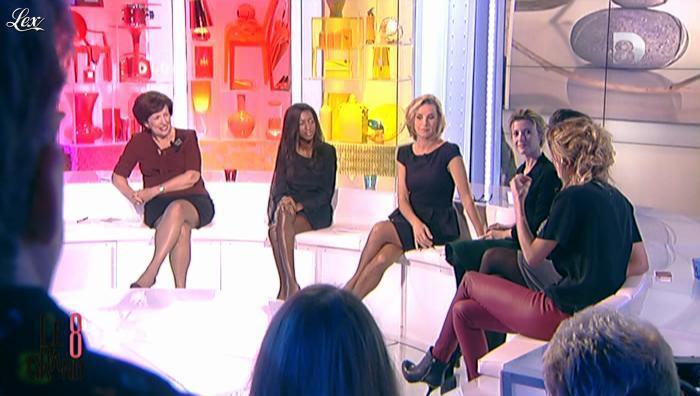 Hapsatou Sy, Laurence Ferrari et Caroline Ithurbide dans le Grand 8. Diffusé à la télévision le 08/11/12.