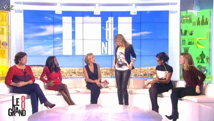 Hapsatou Sy, Laurence Ferrari et Lauren Bastide dans le Grand 8. Diffusé à la télévision le 21/11/12.