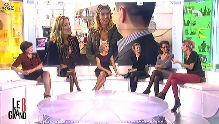 Laurence Ferrari, Audrey Pulvar et Caroline Ithurbide dans le Grand 8. Diffusé à la télévision le 08/11/12.
