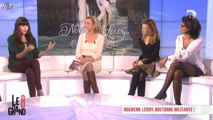 Laurence Ferrari et Audrey Pulvar dans le Grand 8. Diffusé à la télévision le 26/11/12.
