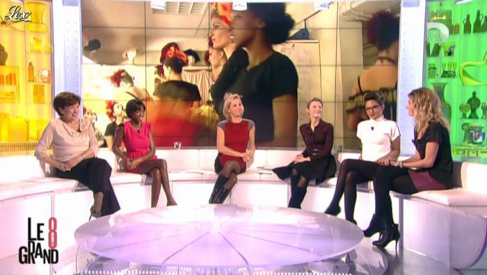 Laurence Ferrari, Caroline Ithurbide, Audrey Pulvar et Hapsatou Sy dans le Grand 8. Diffusé à la télévision le 11/12/12.
