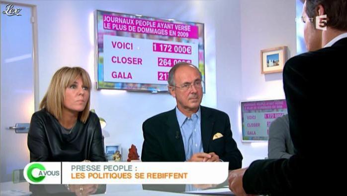 Laurence Pieau dans C à Vous. Diffusé à la télévision le 31/10/12.