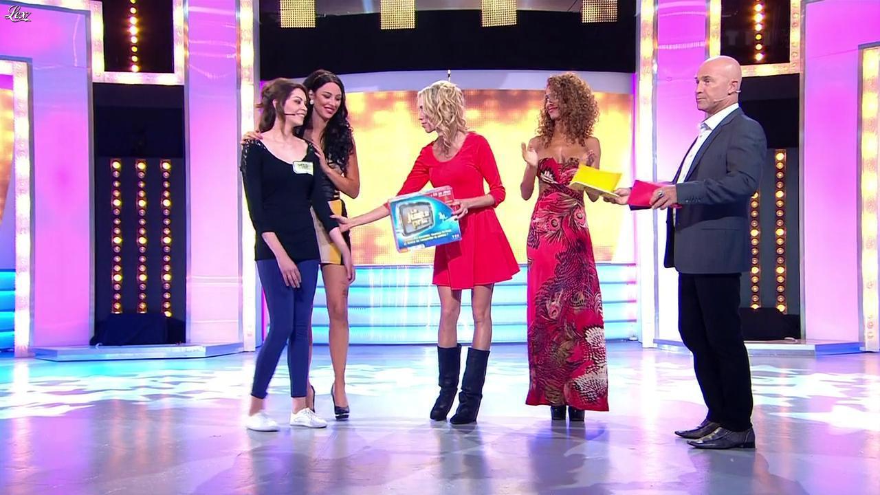 Les Gafettes, Fanny Veyrac, Doris Rouesne et Nadia Aydanne dans le Juste Prix. Diffusé à la télévision le 19/09/12.