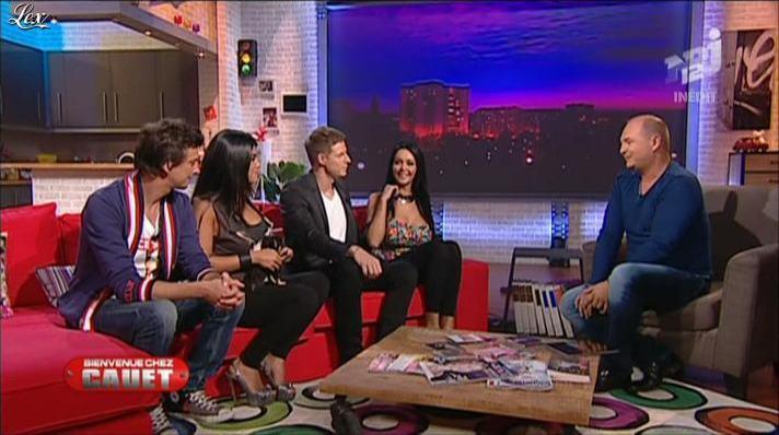 Nabilla Benattia et Ayem dans Bienvenue Chez Cauet. Diffusé à la télévision le 03/10/12.