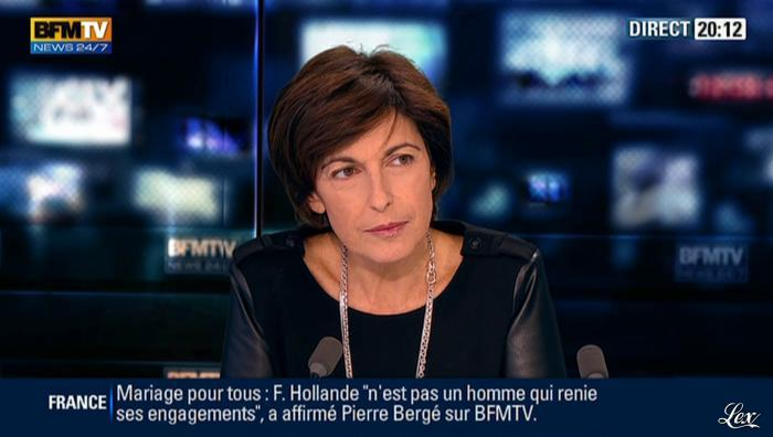 Ruth Elkrief dans BFM TV. Diffusé à la télévision le 08/11/12.