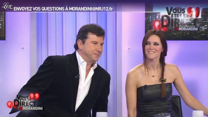 Sandra Lou dans Vous êtes En Direct. Diffusé à la télévision le 27/11/12.