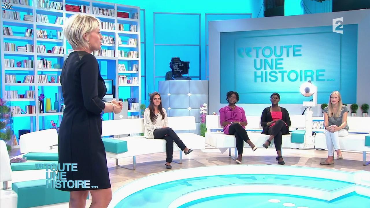 Sophie Davant dans Toute une Histoire. Diffusé à la télévision le 02/11/12.