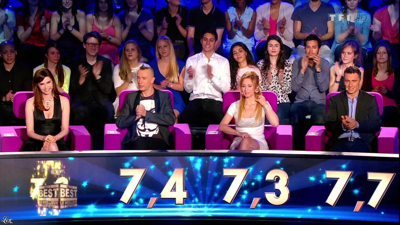 Alessandra Martines et Lara Fabian dans The Best. Diffusé à la télévision le 30/08/13.