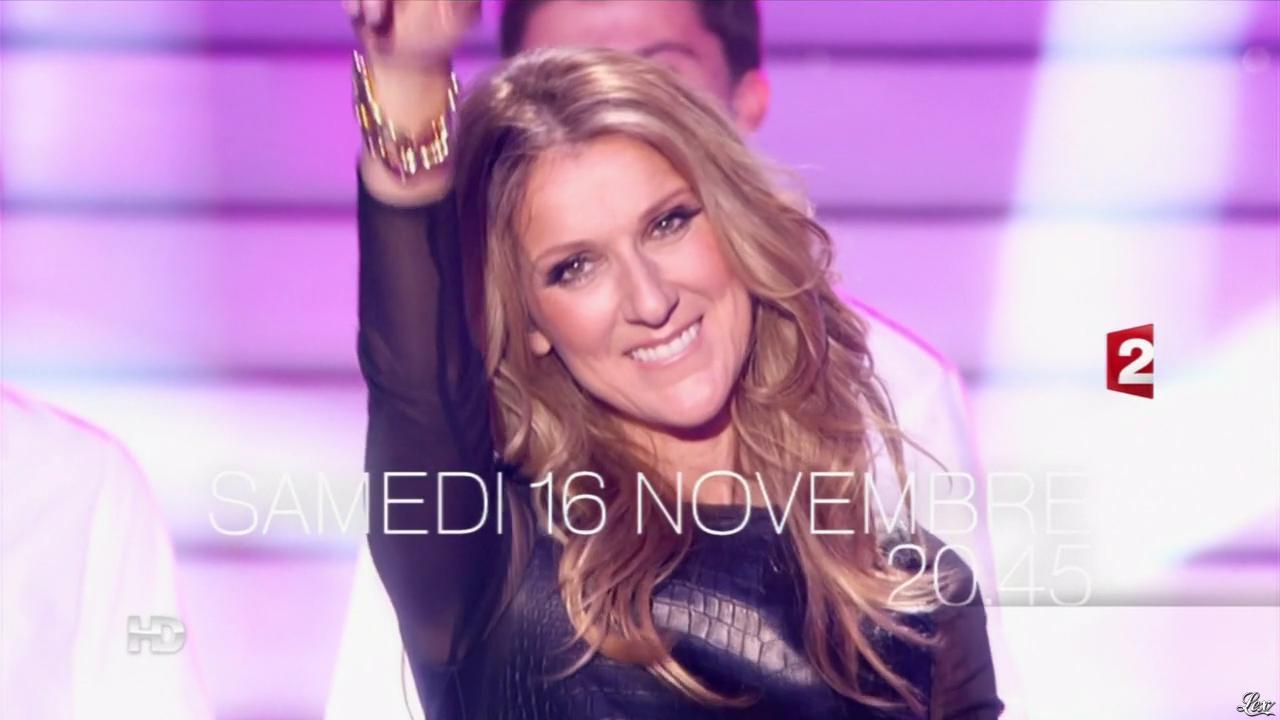 Céline Dion dans une Bande-Annonce sur France 2. Diffusé à la télévision le 07/11/13.