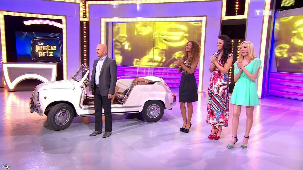 Les Gafettes, Fanny Veyrac, Doris Rouesne et Nadia Aydanne dans le Juste Prix. Diffusé à la télévision le 13/11/13.