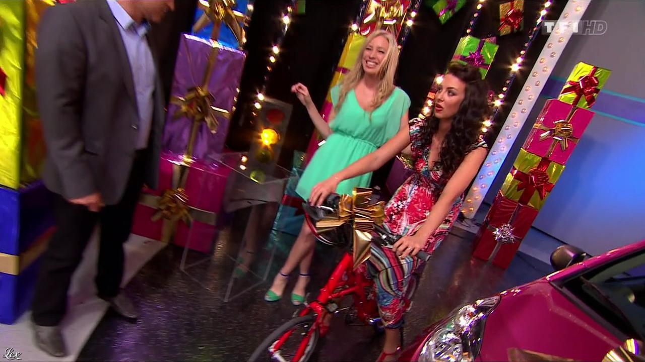 Les Gafettes, Fanny Veyrac et Nadia Aydanne dans le Juste Prix. Diffusé à la télévision le 13/11/13.