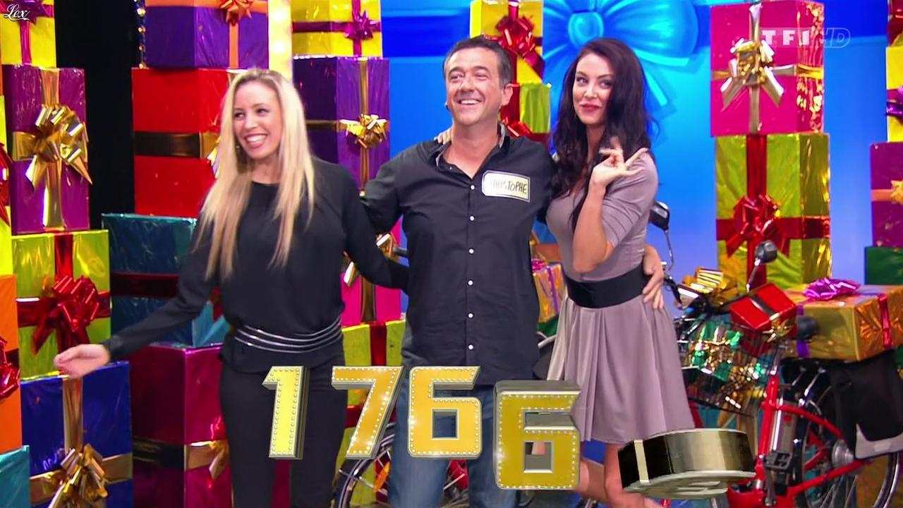 Les Gafettes, Fanny Veyrac et Nadia Aydanne dans le Juste Prix. Diffusé à la télévision le 19/12/13.