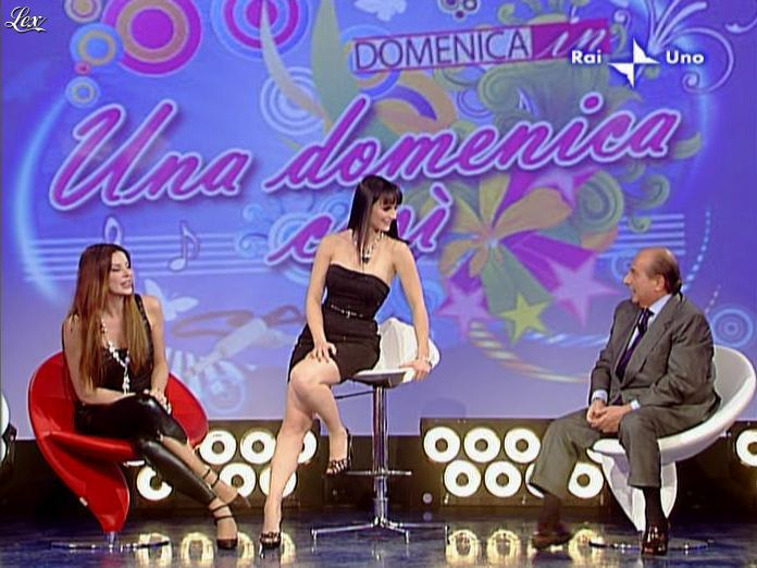 Alba Parietti et Lorena Bianchetti dans Domenica in. Diffusé à la télévision le 01/03/09.