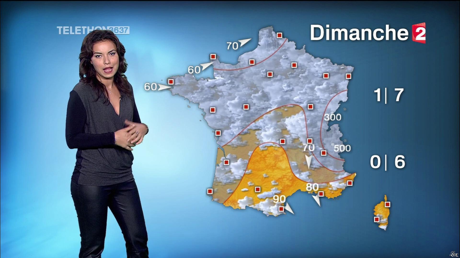 Anaïs Baydemir à la Météo de 13h. Diffusé à la télévision le 05/12/14.