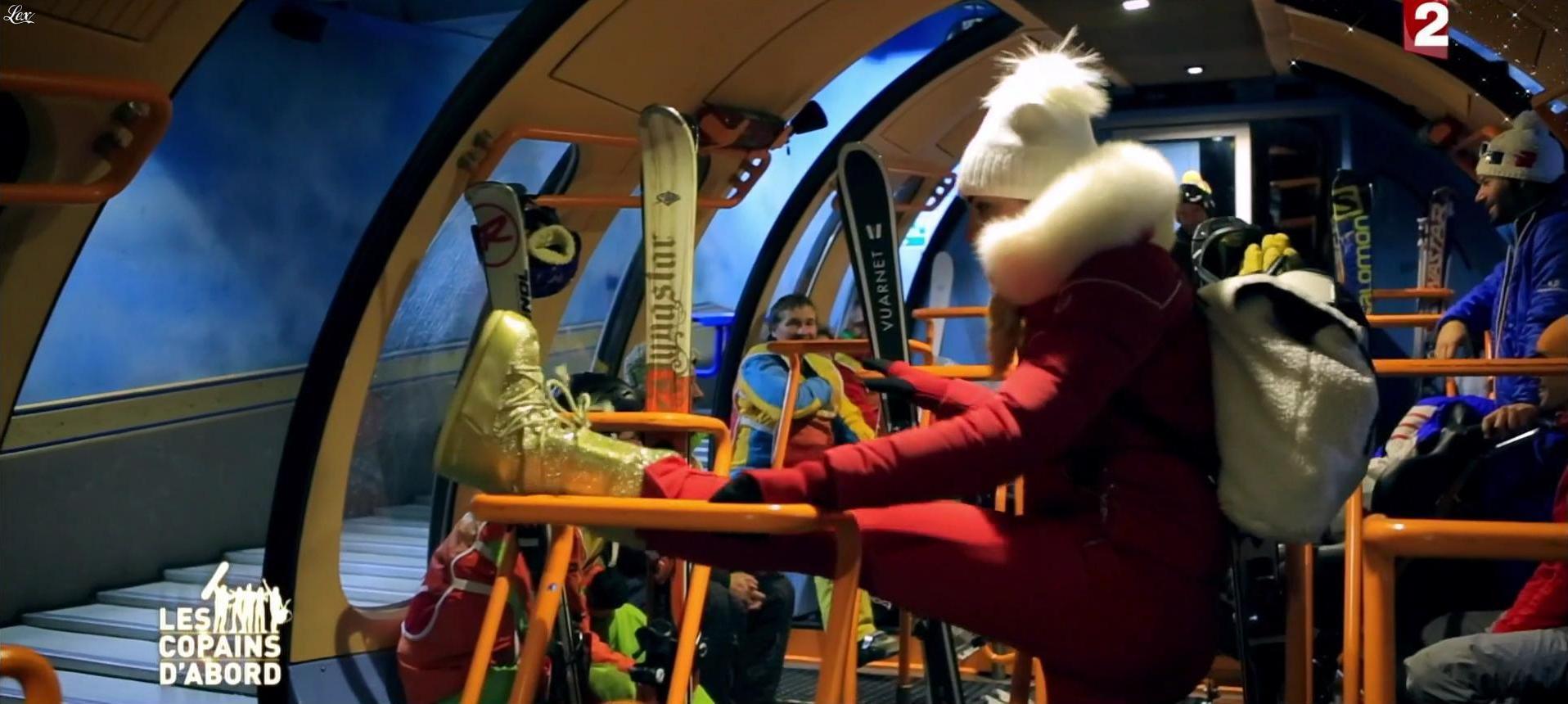 Ariane Brodier dans les Copains d'Abord Font du Ski. Diffusé à la télévision le 25/12/14.
