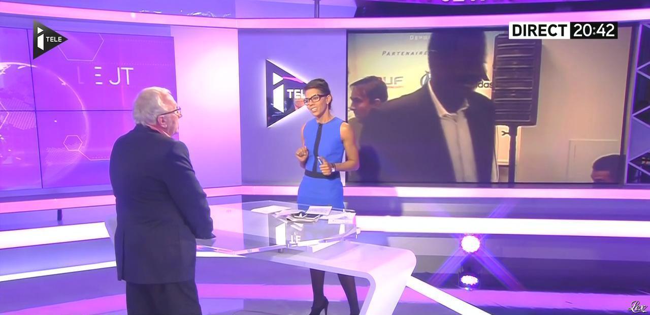 Audrey Pulvar dans le JT. Diffusé à la télévision le 19/11/14.