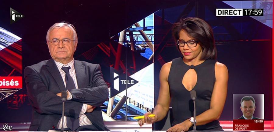 Audrey Pulvar dans Tirs Croisés. Diffusé à la télévision le 04/12/13.