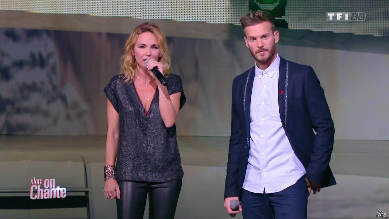 Claire Keim dans Alors On Chante. Diffusé à la télévision le 28/11/14.