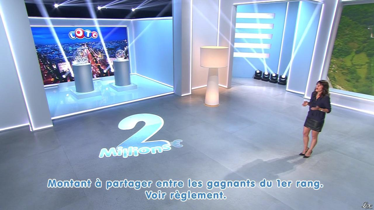 Estelle Denis lors du Tirage du Loto. Diffusé à la télévision le 01/11/14.