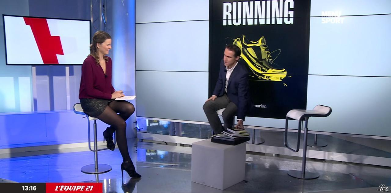 France Pierron dans Menu Sport. Diffusé à la télévision le 08/12/14.
