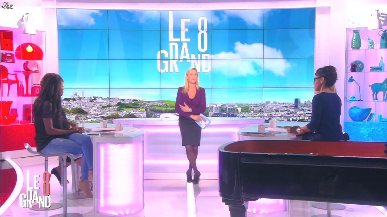 Laurence Ferrari, Audrey Pulvar et Hapsatou Sy dans le Grand 8. Diffusé à la télévision le 07/11/14.