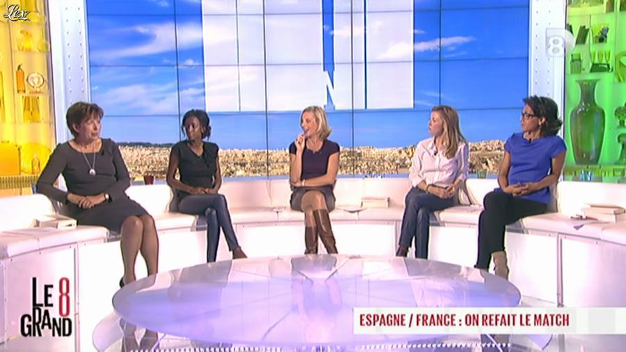 Laurence Ferrari, Audrey Pulvar et Hapsatou Sy dans le Grand 8. Diffusé à la télévision le 17/10/12.