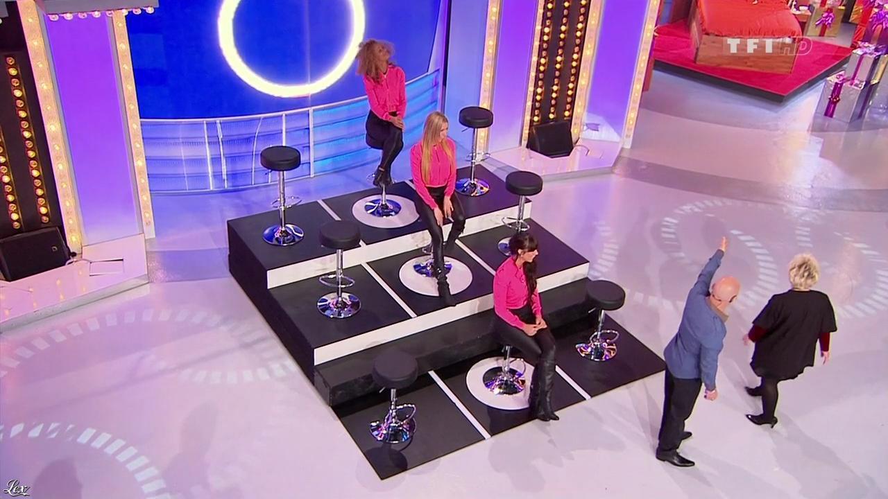 Les Gafettes, Fanny Veyrac, Nadia Aydanne et Doris Rouesne dans le Juste Prix. Diffusé à la télévision le 17/03/10.