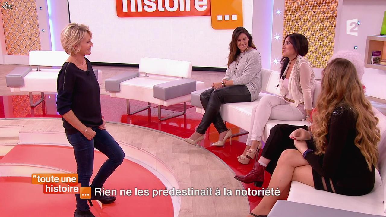 Marion Bartoli et Fabienne Carat dans Toute une Histoire. Diffusé à la télévision le 23/10/14.