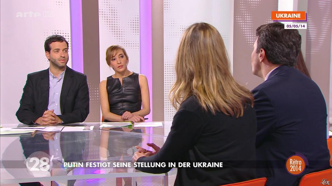 Nadia Daam dans 28 Minutes. Diffusé à la télévision le 19/12/14.