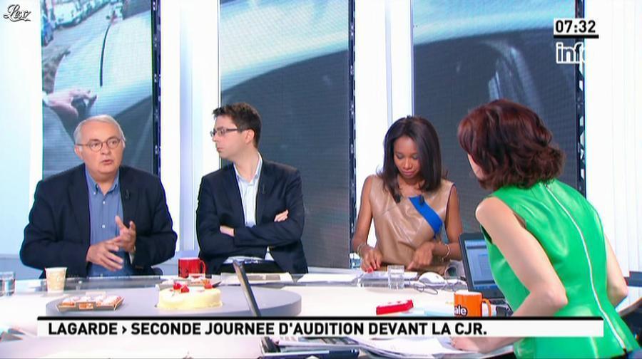 Nathalie Iannetta et Kady Adoum-Douass dans la Matinale. Diffusé à la télévision le 24/05/13.