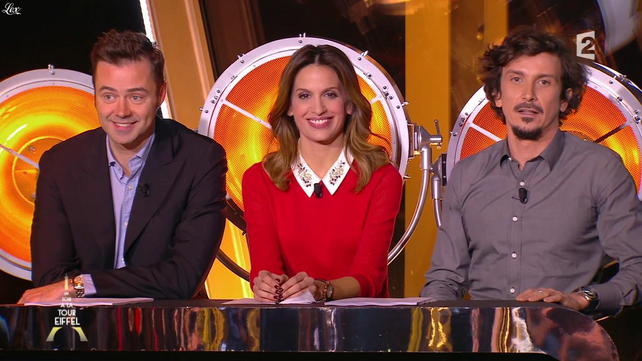 Sonia Mabrouk dans un Soir à la Tour Eiffel. Diffusé à la télévision le 26/11/14.