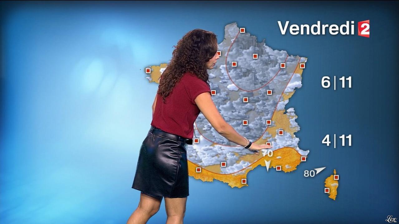 Anaïs Baydemir à la Météo de 20h. Diffusé à la télévision le 13/10/15.