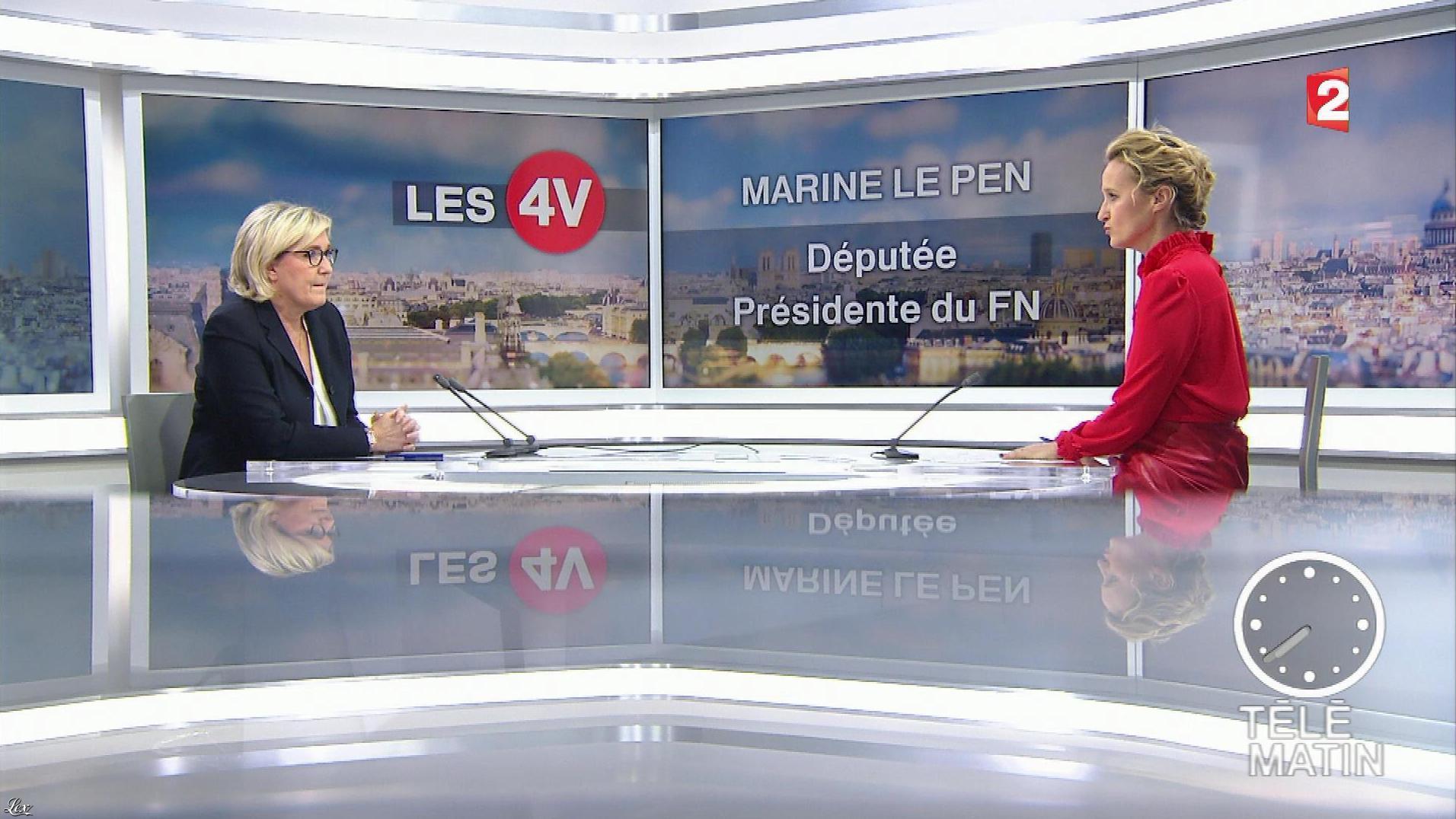 Caroline Roux dans les 4 Vérités. Diffusé à la télévision le 22/01/18.
